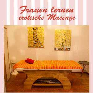Frauen lernen erotische Massag